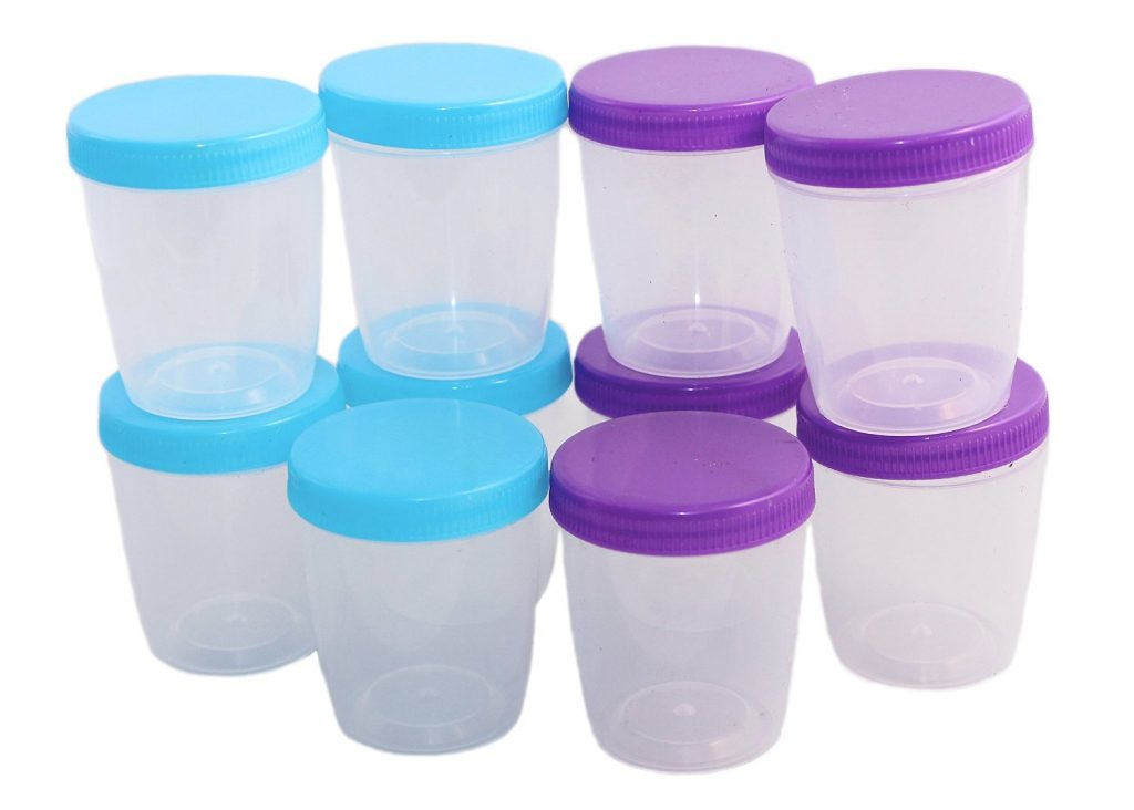 - Pack of 10 Clear Plastic Mini Storage Containers with Screw Top Lids